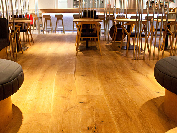 Curved edged oak plank