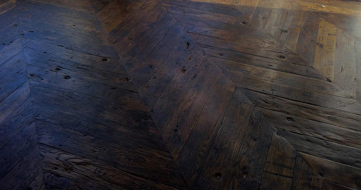 Bespoke Rustic Reclaimed Chevron Flooring