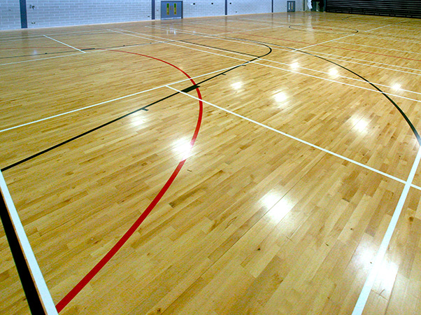 Sports hall and court line marking
