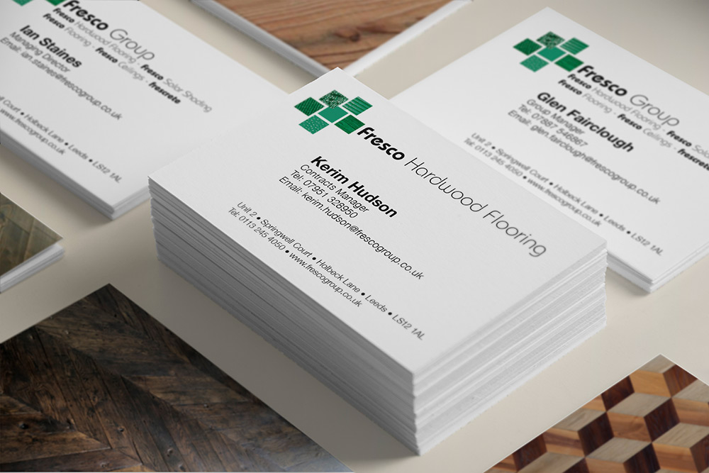 Fresco Hardwood Flooring Business Cards